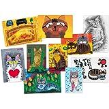 猫の足あと 山下絵理奈 ポストカードセレクション 1 (10枚セット)