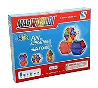 [マグワールドトイズ]MagWorld Toys Rainbow Magnetic Construction Set MWR060 [並行輸入品]