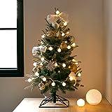 【Blooming&me】 送料無料!「数量限定」クリスマス特集 クリスマスツリー 北欧風 おしゃれ スリムツリー デザインツリー 高級クリスマスツリー (ゴールドオーナメントセット)タイプ 60cm 90cm 120cm 150cm (90cm+雪の華 LEDライト)