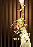 igsticker ポスター ウォールステッカー シール式ステッカー 飾り 515×728㎜ B2 写真 フォト 壁 インテリア おしゃれ 剥がせる wall sticker poster 006290 ラグジュアリー ストライプ 茶色 ブラウン