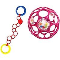 O'ball オーボール オーリンク (レッド) オーボールラトル (ピンク) セット 外出 持ち運び (AM-10100) by Kids II