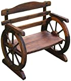 平和 椅子型花台 焼杉