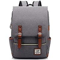 Nanle Unisex Vintage Book Bag Fashion Travel Daypack Casual Business College Laptop Backpacks for Men Women Work MacBook Tablet (Color : Gray)