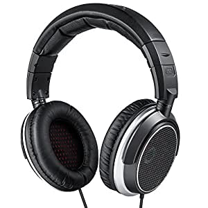 AudioMX ヘッドホン HiFi 高音質 開放型 オーバーヘッド 有線型 6.3mm変換プラグ付 モニターヘッドホン 交換用イヤーパッド付 可動式イヤーカップ HS-5S