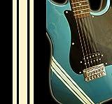 ギター・ベースに貼ってカスタマイズ コンペティション・レーシング・ライン ステッカー (オリンピック・ホワイト)
