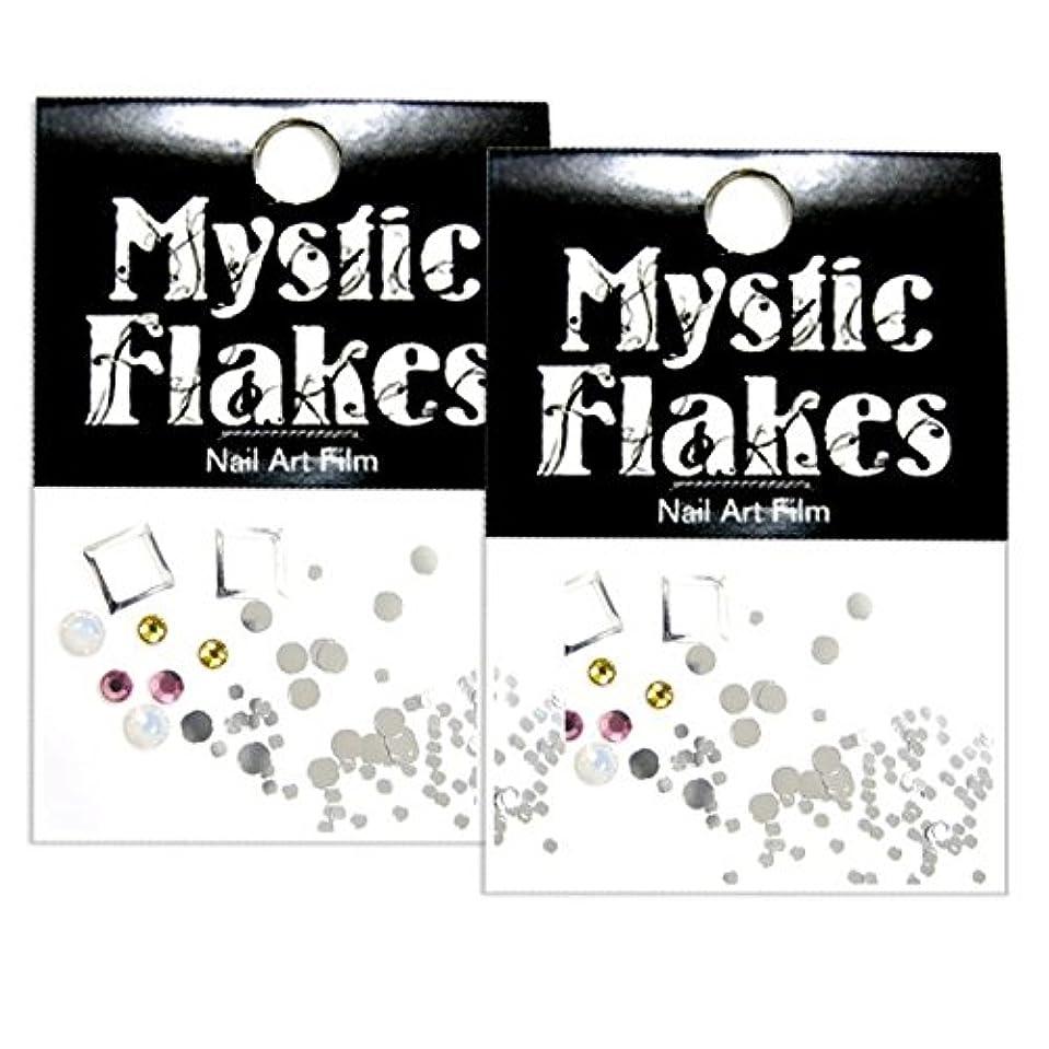 潜在的な絶え間ない数学的なミスティックフレース ネイル用ストーン スタッズ デザインアソートパック シルバー 2個セット