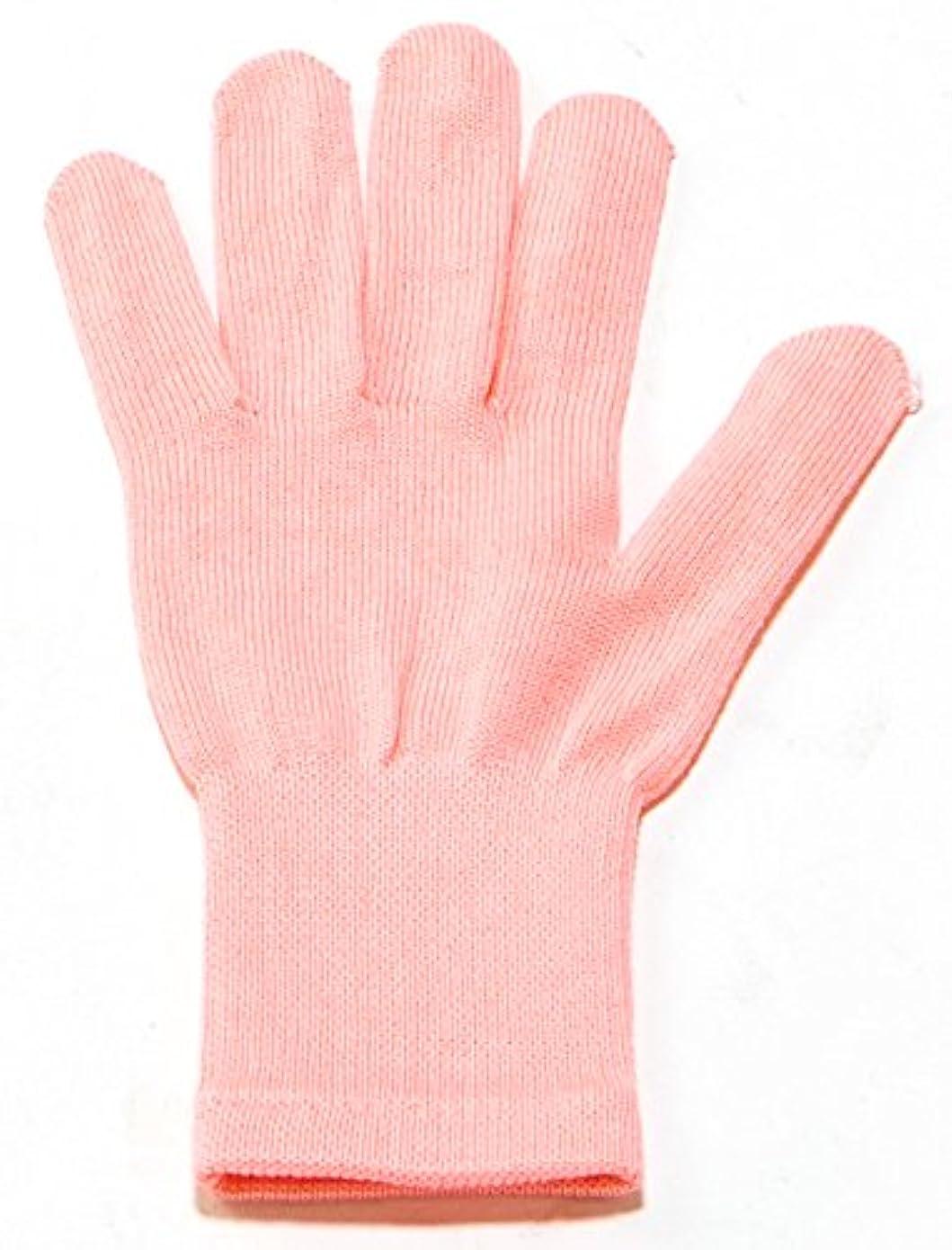 戦略コンテスト辞任イチーナ【ハンドケア手袋ショート】天然保湿効果配合繊維(レディース?フリーサイズ) (ピンク)
