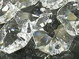 八角 クリスタル ガラスビーズ 14mm オクタゴン 70個 セット 手作り サンキャッチャー シャンデリア 材料 パーツ (クリア)