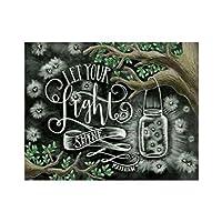JAGENIE DIYダイヤモンドペインティング刺繍フラワークロスクラフトステッチホームインテリアアート 黑板画a039 フルダイヤモンド 30 * 25cm