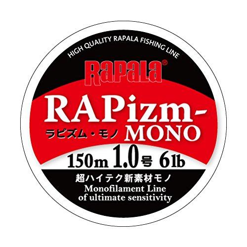 ラパラ(Rapala) ラピズム・モノ ナイロン 1.0号 6lb 150m クリア RAPIZM-MONO RPZM150M10CL