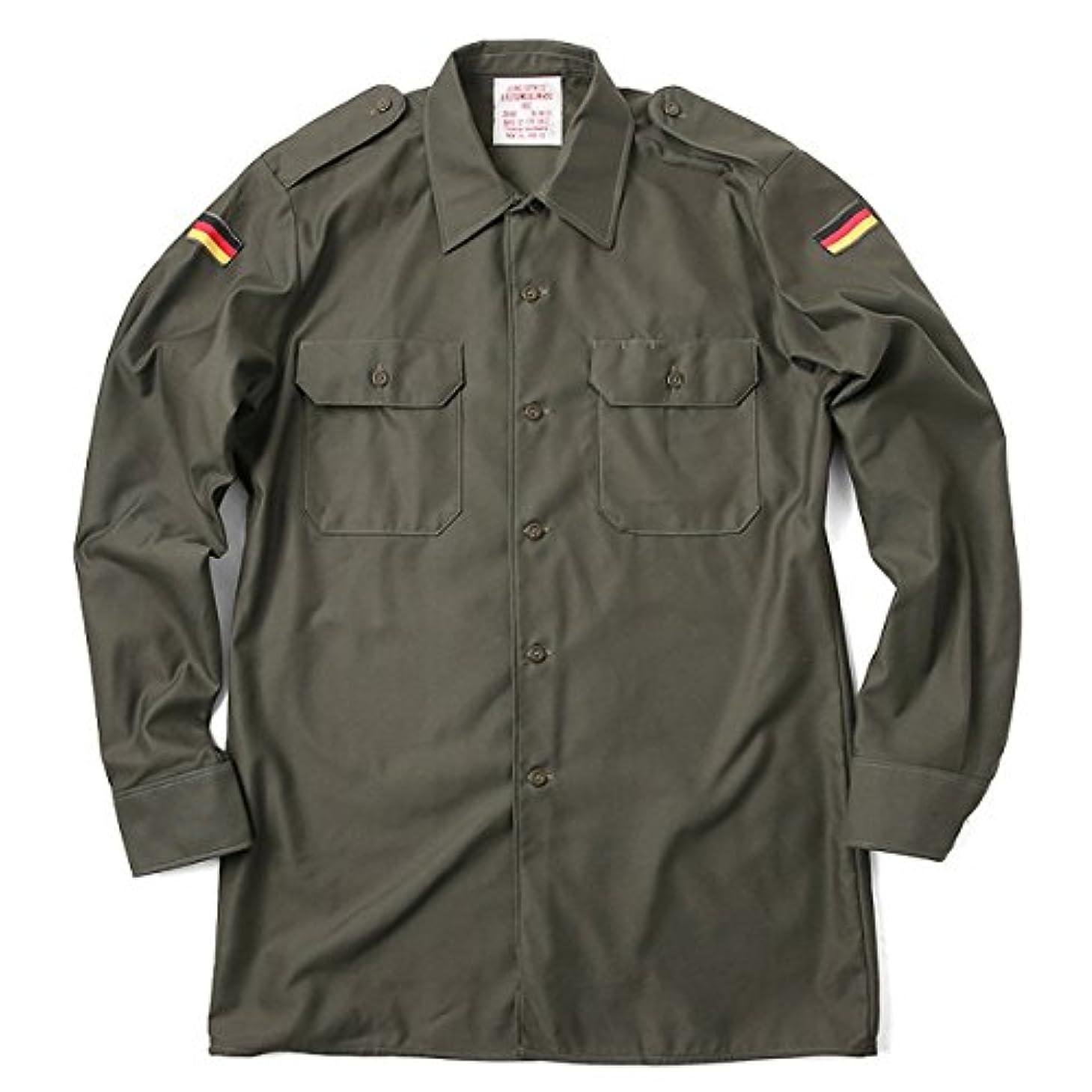 成り立つ信号障害実物 新品 ドイツ軍フィールドシャツ オリーブ(Gr3 オリーブ)