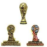 2018FIFAワールドカップ(W杯)ロシア大会 オフィシャル ピンバッジ 3点セット F18-MC-(0447/0096/0454)-A