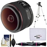 Opteka 6.5MM F / 2HD MF Prime魚眼レンズレンズと三脚+レンズペン+クリーニングキットSonyアルファ・Eマウントデジタルカメラ