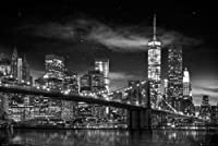 New York Freedom Tower B and W 1 24x36 Art Print Poster by Posterservice