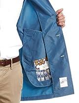 Packable Balmacaan Coat 51-19-0047-012: Blue