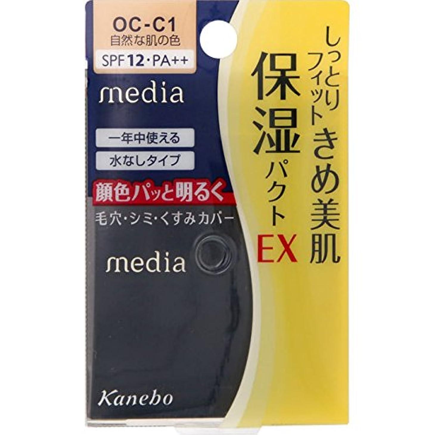 北米生活達成するカネボウ メディア モイストフィットパクトEX OC-C1(11g)