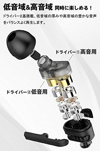 ARKARTECH T6 イヤホン 高音質 ブラック カナル型 T61
