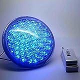 ZehuiシェルLED電球ランプでリモートコントローラの噴水池プール埋め込みRGB水中ライト18W LED ブルー mhy-0831-jj1153