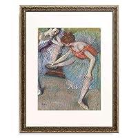 エドガー・ドガ Edgar Degas 「Dancers. About 1896」 額装アート作品