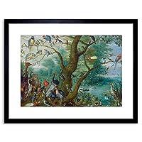 "Painting Van Kessel (cir.) Concert Of Birds 9x7"" Framed Wall Art Print"
