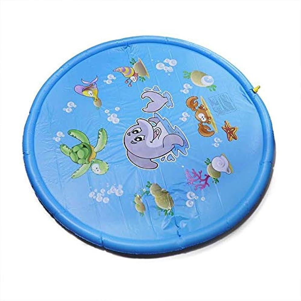 異なる長いです正当な子供たちは水マットゲームビーチパッド子供屋外水スプレービーチマット芝生インフレータブルスプリンクラークッションおもちゃクッション