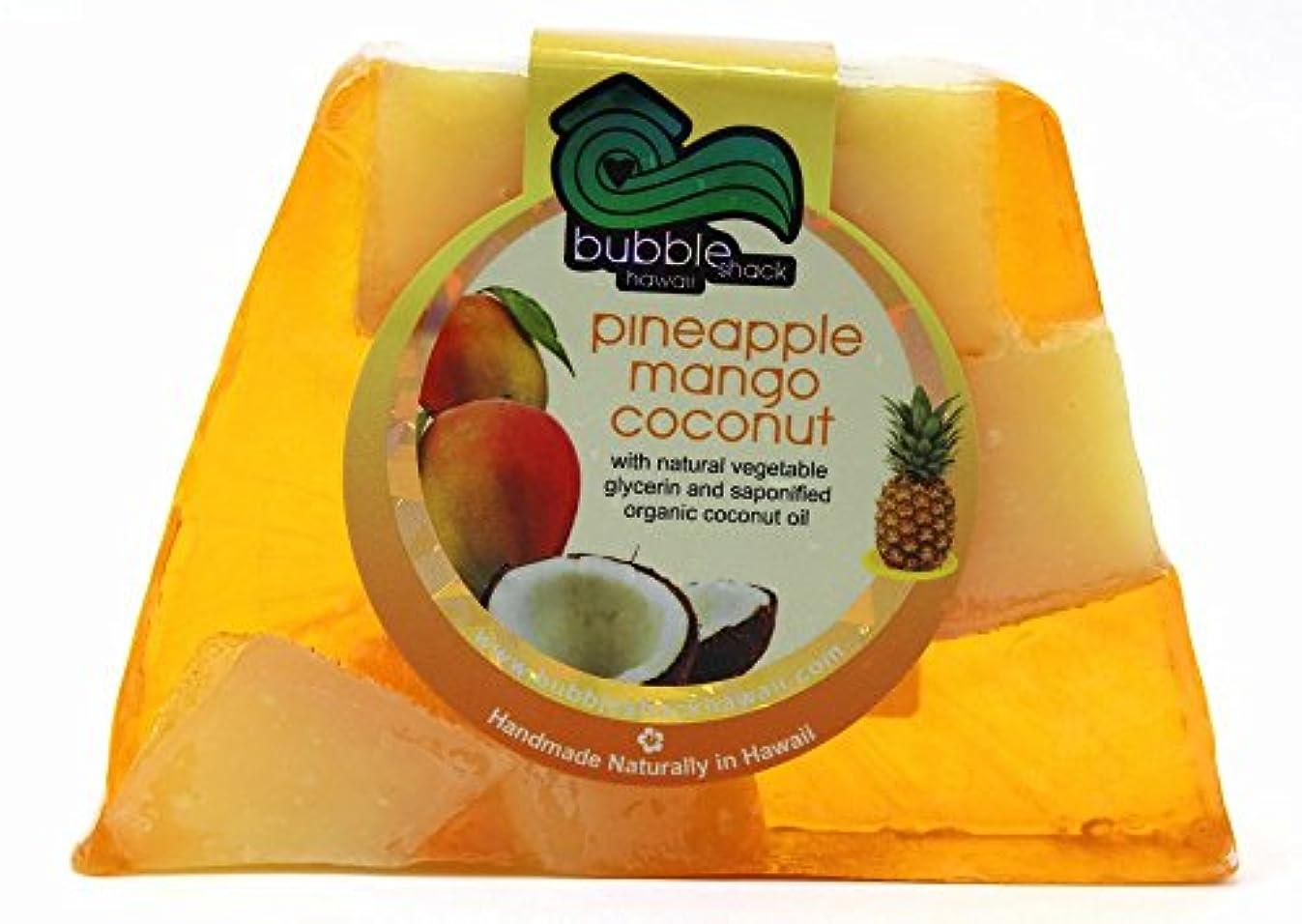 どちらもヨーグルトリークハワイ お土産 ハワイアン雑貨 バブルシャック パイナップル チャンクソープ 石鹸 (マンゴーココナッツ) ハワイ雑貨