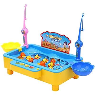 ATETION 楽しい釣り、電動音楽釣り楽園、遊動の魚よ、 贈り物 (�い)
