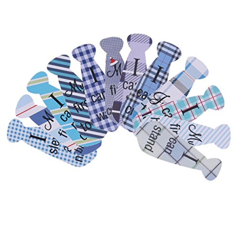 Baosity 赤ちゃん ベビー ネクタイ フォトプロップ 衣装飾り 写真撮影 デコレーション 12枚/セット