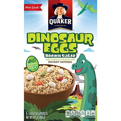 Quaker Instant Oatmeal Dinosaur Eggs クエーカーインスタントオートミールブラウンシュガー50g x 8袋 [並行輸入品]