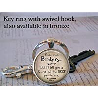 You're Bonkers keychain, in Wonderland quote, literary quote jewelry, quote keychain