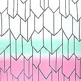 矢絣 バタフライグラデーション NBK 生地 布 コスプレ 白×緑×桃 コスプレ 巾約112cm×1.5m切売カット IBK99078-6A-1.5M