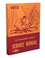 1972 Chevrolet Truck Repair Shop Manual Reprint Chevy Pickup Suburban Blazer [並行輸入品]