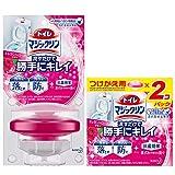 【まとめ買い】トイレマジックリン トイレ用洗剤 流すだけで勝手にキレイ エレガントローズの香り 本体+付替用