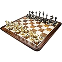 Chessncrafts Brass Slim Body Chess Set, Perfect For Gifting, Self-Use, Foldable Set, Board