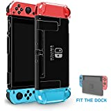 Crystal Protector for Nintendo Switch,top4cus Switch Cover Case, Premium PC Material with Colors Option (Crystal-Clear)