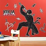 Ninja Warrior Party Giant Wall Decals 忍者戦士パーティー特大壁用ステッカー?ハロウィン?クリスマス?