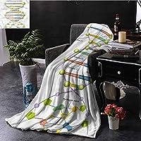 寝室暖かい毛布教育遺伝コード楽しい快適で暖かい60 x 40インチ 120X150