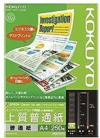 コクヨ インクジェットプリンタ用紙 上質普通紙 A4 250枚 KJ-P19A4-250 【まとめ買い5冊セット】