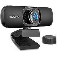 【 自動フォーカス & フルHD1080P 500万画素】 ウェブカメラ Webカメラ マイク内蔵 (360˚全方向集音…