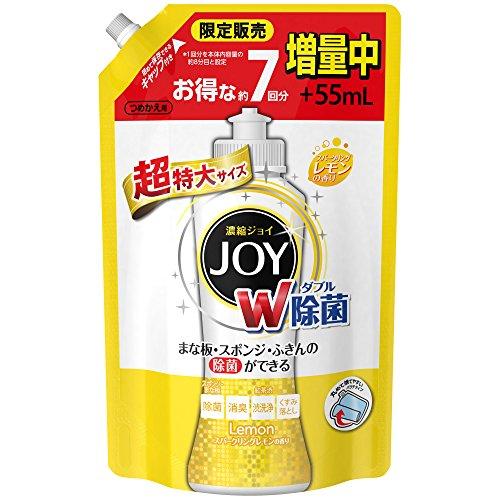 除菌ジョイコンパクト JOY スパークリングレモンの香り 詰め替え 超特大増量 1120ml 1個 食器用洗剤 P&G