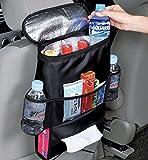 車載収納ポケット シートバッグ 収納ボックス 大容量 折り畳み式 4ボックス 保温保冷機能 ティッシュホルダー アルミ箔断熱 高品質 取付簡単 後部座席収納 長 距離ドライブの必需品 車用品