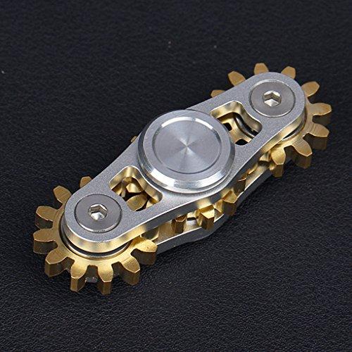 ンドスピナー 指スピナー ストレス解消 齿轮 真鍮製 ギア ...