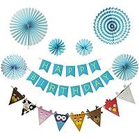 誕生日 飾り付け ガーランド 特大 ペーパーファン 6個 HAPPY BIRTHDAY バースデー 動物 装飾 セット 子供 可愛い