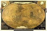 アンティーク風 個性派 ポスター レトロ 雑貨 インテリア お部屋 お店 模様替え に (タイプB (火星地図))