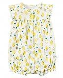 カーターズ Carter's ロンパース 半袖 ショートオール ベビー服 女の子 レモン (6months(61-67cm)) [並行輸入品]