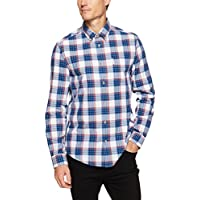 Ben Sherman Men's Long Sleeve Crepe Gingham Check Shirt