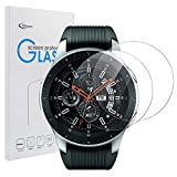 Samsung Galaxy Watch 46mm SM-R800 SM-R805 強化ガラスフィルム Qosea 液晶保護フィルム 二枚入り 日本AGC旭硝子社 国産ガラス 硬度9H 指紋防止 飛散防止 超薄0.3mm 2.5D ラウンドエッジ加工