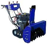 除雪機 302cc 10馬力 クローラ式 家庭用 4サイクルエンジン 自走式 (オレンジ)