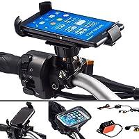 Ultimateaddonsオートバイバイク16–32mm直径メタルUボルト強力なマウントとユニバーサル1つホルダーfor Sony Xperia z1z2z3 Hardwire Kit MOTOZ123-EXP12-17-UBOLT-MICROUSB