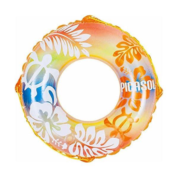 ドウシシャ 浮き輪 オレンジホヌ 100cmの商品画像